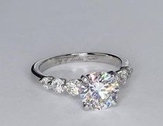 A Perfect 4.5CT Round Cut Solitaire Russian Lab Diamond Engagement Wedding Anniversary Ring
