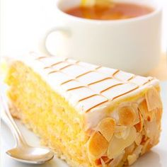This almond cake recipe is made with a cake, drizzled with almond syrup that soaks in then coated with a vanilla glaze. The roasted almond slivers add a nutty flavor. This is a good cake to serve for afternoon coffee break. Cake Recipes, Dessert Recipes, Desserts, Almond Cakes, Let Them Eat Cake, No Bake Cake, Cupcake Cakes, Cupcakes, Sweet Tooth