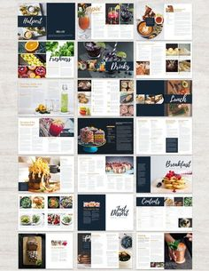 Cookbook and Recipe Template for Adobe InDesign Instant Magazine Design, Graphic Design Magazine, Food Magazine Layout, Adobe Indesign, Menue Design, Food Design, Web Design, Vector Design, Recipe Book Design