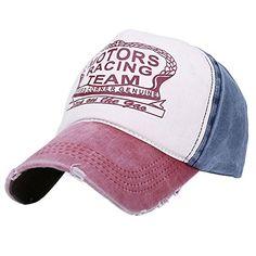 Motors Racing Team Vintage Patchwork Adjustable Twill Cotton Outdoor Baseball Cap Wash Wine Red/Jean Blue Home Prefer http://www.amazon.com/dp/B015NCOUSC/ref=cm_sw_r_pi_dp_oZ0dwb1JBNKV9