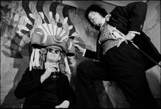 Salvador Dali and Andy Warhol at the St. Regis Hotel (winter 1964-65), New York City. By David McCabe