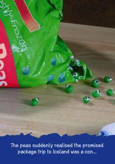 Frozen peas...