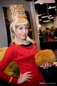 "This cosplay is Yeoman Janice Rand from ""Star Trek,"" the original series."