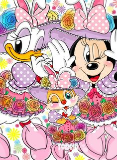 Daisy Duck and Minnie Mouse