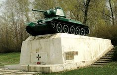 Polish T-34 tank monument of the Battle of Studzianki.