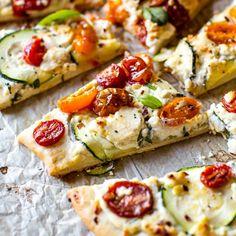 Zucchini & Herbed Ricotta Flatbread
