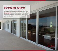 As portas e janelas de PVC fabricadas pela Eurosystem, permitem a entrada de luz natural trazendo muito mais vida para o seu ambiente.  Esquadrias Eurosystem, soluções inteligentes para seu projeto.  #Eurosystem #SoluçõesInteligentesParaSeuProjeto #EsquadriasdePvc #PorqueSeuProjetoMereceoMelhor