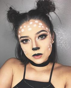 Bambi-Rotwild-Halloween-Make-up – Hallow. - Bambi-Rotwild-Halloween-Make-up – Halloween Makeup – - Halloween Makeup For Kids, Pretty Halloween, Kids Makeup, Halloween Looks, Makeup Ideas, Makeup Inspiration, Halloween 2018, Last Minute Halloween Costumes, Deer Halloween Costumes