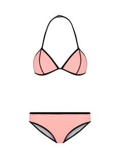 Teens Pink Colour Block Bikini Set | New Look