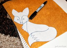 DIY Fox Applique. Cute! I don't think I would do it on a sweater though. Maybe a bag or something.