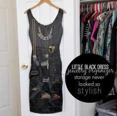 Little Black Dress Hanging Jewelry Organizer Want this Pinterest