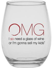 OMG stemless wine glasses - Okay...I just love them!  I have 6 of these and they are certainly my favorites.  Very sturdy, big and I wash mine in the DISHWASHER and the paint doesn't come off!!  LOVE THESE!!!