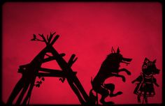 Three Little Pigs: Shadow Puppetry with Printables - In The Playroom Shadow Theatre, Toy Theatre, Fun Places For Kids, Pig Showing, Famous Fairies, Art Prompts, Three Little Pigs, Shadow Play, Up Book