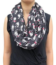 Lina & Lily Cat Print Women's Infinity Scarf Lightweight - Purrfect Gifts Online Lily Cat, Loop Scarf, Online Gifts, Autumn Summer, Scarf Styles, Fashion Brands, Infinity, Topshop, Cat Lovers