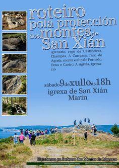 A Plataforma en Defensa dos Montes do Morrazo organiza o  roteiro para dar a coñecer a importancia natural, paisaxística e cultural dos montes da parroquia de San Xián (Marín),