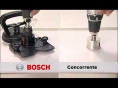 Brocas e Serras Copo Diamantadas Bosch For Hard Ceramics - YouTube