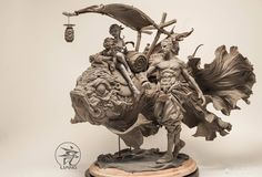 Yuan Xing Liang is a Chinese artist who makes incredible surrealistic clay sculptures. The sculptures incorporate elements of nature, animals, and architecture to create stunning pieces of art. Sculptures Céramiques, Art Sculpture, 3d Models, 3d Prints, Creature Design, Clay Art, Asian Art, Character Art, Character Design