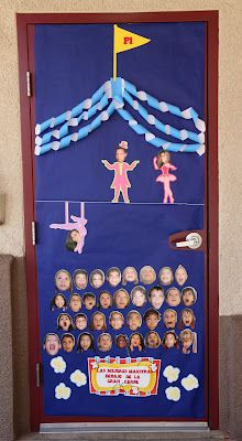 The circus themed door I decorated for Teacher Appreciation Week.