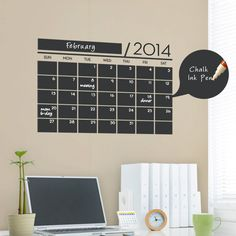 Chalkboard Wall Calendar Vinyl Wall Decals by SimpleShapes, $35.00
