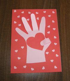 Valentínsky darček - srdce v dlani - My site Diy And Crafts, Crafts For Kids, Arts And Crafts, 8 Martie, Mothers Day Crafts, Valentines Day, Nursery, Handmade, Mother's Day
