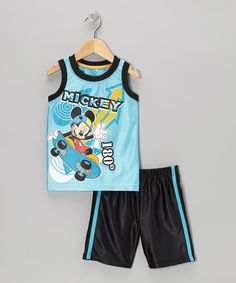 ed3e9e065 Take a look at this Blue & Black Mickey Tank & Shorts - Toddler & Boys by  Disney on today!