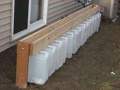 gutterless rain barrels/buckets