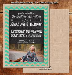 Graduation Announcement  Invitation by TemplatesbyDMDesigns