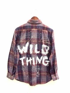 Wild Thing Shirt in Plaid, Painted + Hipster. Unisex & one-of-a-kind. Bambiandfalana.com