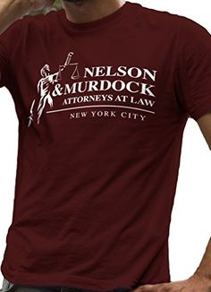 Daredevil T-Shirt Nelson and Murdock Attorneys at Law - LeRage Shirts MEN'S MAROON X-Large LeRage Shirts http://www.amazon.com/dp/B00W25D6Y8/ref=cm_sw_r_pi_dp_bNghwb19MHFGW