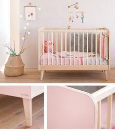 La nouvelle chambre Fifti Moulin Roty : Le lit à barreaux déclinable en 5 couleurs !