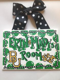 Dorm Room Sign, Hand painted graduation or birthday gift dorm decor customize any school