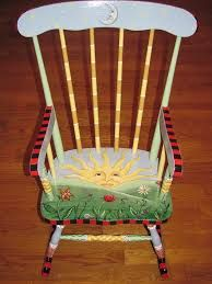 hand painted wooden high chair images - Google Search