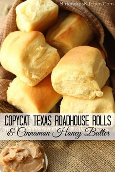 These Copycat Texas Roadhouse Dinner Rolls are so soft and the Cinnamon Honey Butter puts them over the top!  I use a bread machine to cut the active work down to 10 minutes which includes shaping the rolls! These are simple enough for any dinner but amazing enough for Thanksgiving Dinner!  They might even be better than the ones at the restaurant...