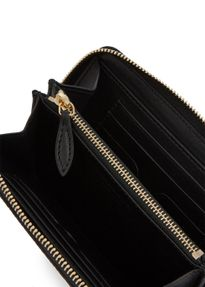 Black leather continental wallet
