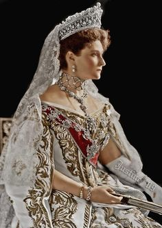 Tsaritsa Alexandra Feodorovna of Russia (1872-1918) née Her Grand Ducal Highness Princess Alix of Hesse and by Rhine