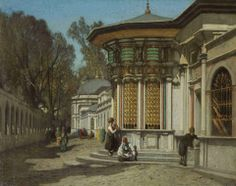 Germain Fabius Brest (French, 1823-1900)  The Mausoleums near the Sehzadebasi Mosque, Constantinople