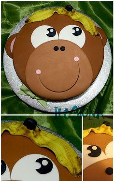 Monkey cake minus the fondant @Courtney Baker Baker Baker Groom- Fudge