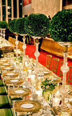 Boxwood Balls for an elegant table setting.
