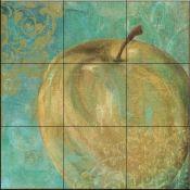 Fruit Palette II-CB - Tile Mural Decorative Tile Backsplash, Kitchen Backsplash, Backsplash Ideas, Tile Murals, Wall Tiles, Tumbled Marble Tile, Fruit Picture, Fruits Images, Tile Projects
