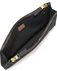6a0da2e09466 TOM FORD Leather TF Double-Zip Pouch