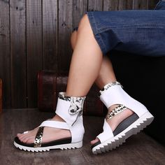 free shiping 2015 white flat sandal booties men big size shoes italian leather sandals for men gladiator sandals beach casual