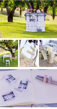 Love the masking tape to stick up photos - could be a cute bathroom decoration