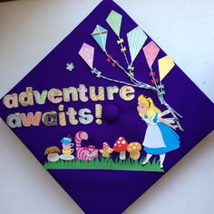 My Alice in Wonderland graduation cap!