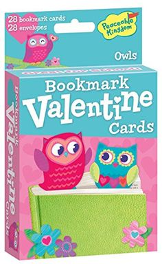 Peaceable Kingdom / Pop-Out Owl Bookmark Valentine Cards