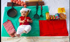Baby that's cute! Loving parents create funny pictures of their four-month-old son #DailyMail