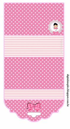 """bolcinha para bix  Kit de Personalizados Tema """"Bailarina Rosa"""" para Imprimir - Convites Digitais Simples"""