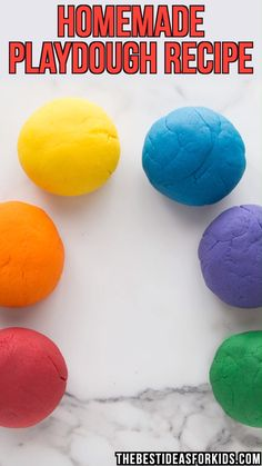 The BEST Playdough Recipe is part of Homemade playdough recipe - The BEST playdough recipe you will ever try with only 5 ingredients! This homemade playdough is soft, easy to make and lasts for months! Fun Crafts For Kids, Toddler Crafts, Diy Crafts To Sell, Projects For Kids, Diy For Kids, Activities For Kids, Quick Crafts, Toddler Fun, Homemade Crafts
