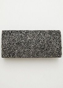 Sparkle Flap Clutch, Style MAYAN in Pewter. #davidsbridal #accessories #grayweddings