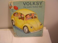 Volksy The Little Yellow Car Rand McNally Book 1965 Helen Wing Mary Jane Chase
