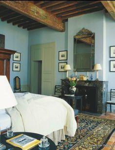 bedroom featured in World of Interior interior design magazine